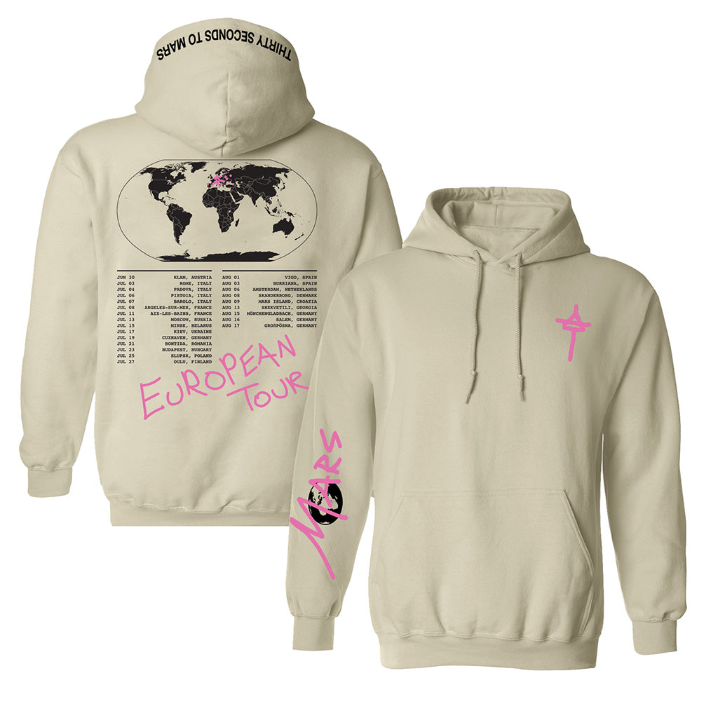 Europe Tour 2019 World Map Hoodie