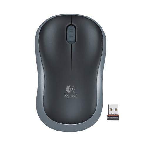 Logitech M185 Gray Black Wireless Mouse