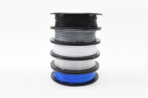 Creality3D PLA 3D Printer Filament, 1.75mm, 200g x 5 Pack - Black, Silver, Transparent, White, Blue