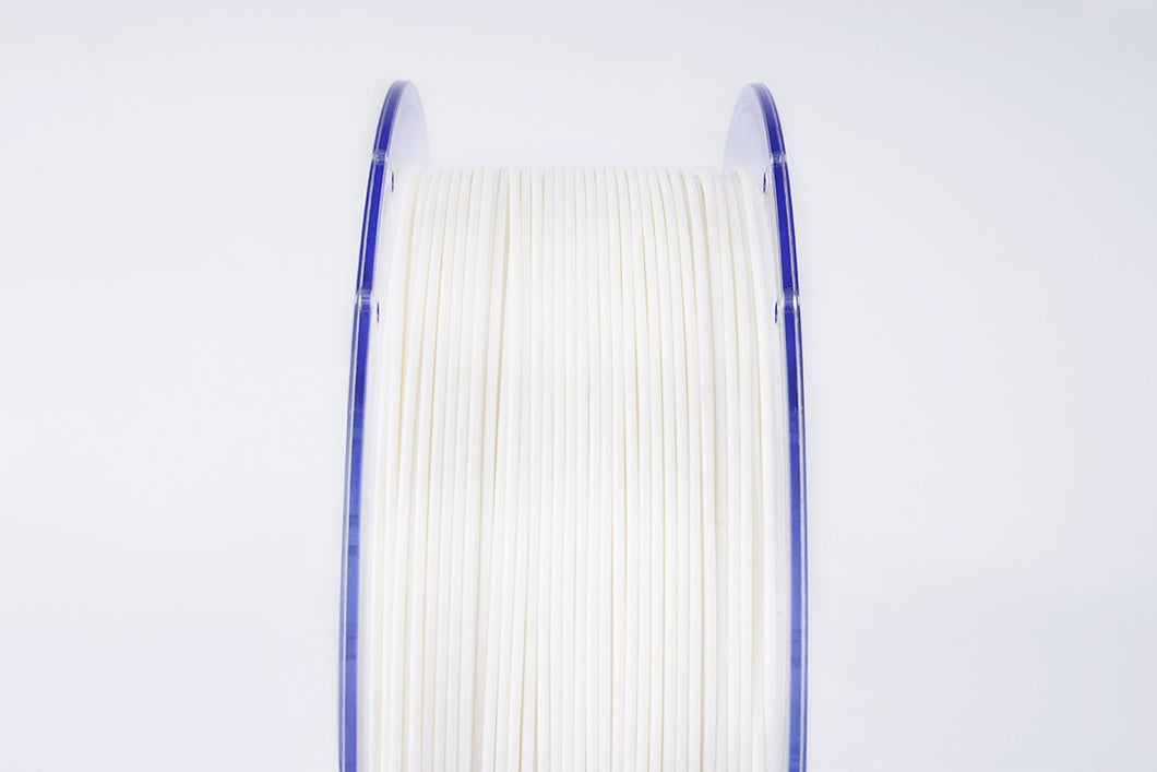 PLA 3D Printer Filament, 1.75mm, 1kg Clear Reusable Spool, White