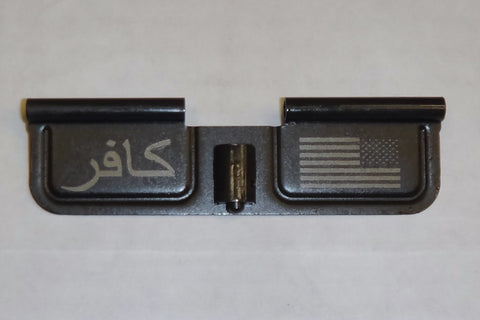 Spike's Tactical Ejection Port Door w/Infidel and Flag Engraving