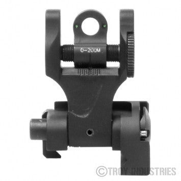 TROY Rear Folding  Battle Sight TRITIUM (Black)