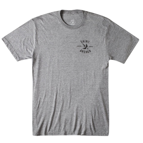 CLASSIC BREW BACK PRINT S/S TEE - HEATHER GRAY / BLACK