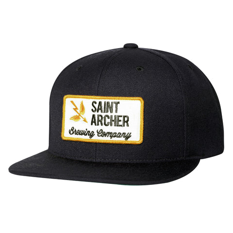 BREW PATCH SNAPBACK - BLACK / GOLD / WHITE