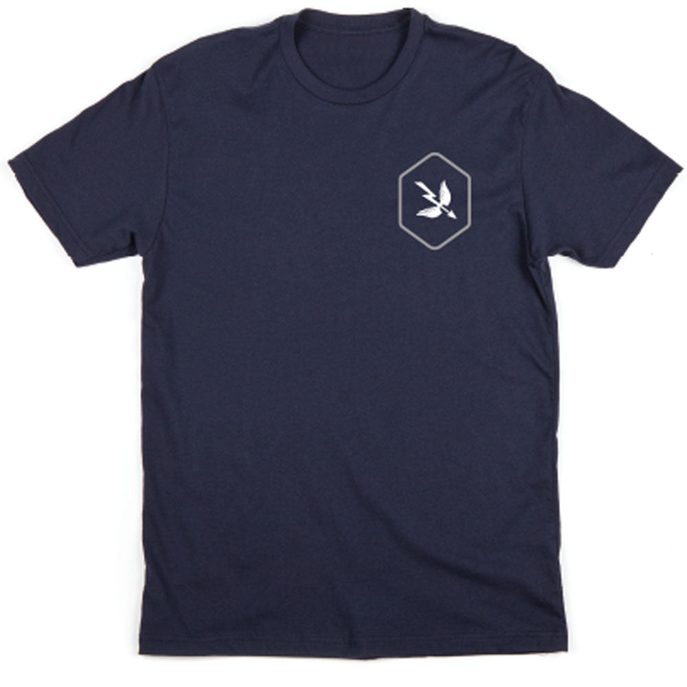 HEXAGON S/S TEE - NAVY / GRAY / WHITE