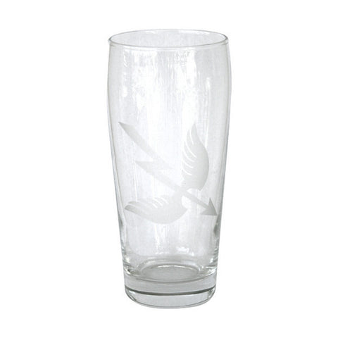 ETCHED PUB GLASS