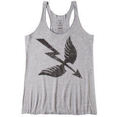 WINGS AND ARROW WOMEN'S TANK - HEATHER GRAY / BLACK