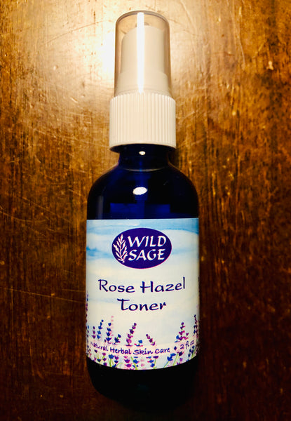 Rose Hazel Toner - 2oz facial mist