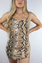 "Load image into Gallery viewer, ""Sssexy Snake Print"" dress"