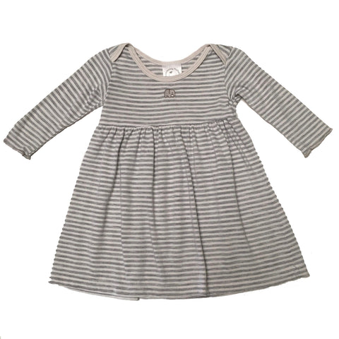 Lap Shoulder Baby Dress - Heather Stripe