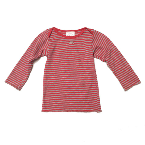 Long Sleeve Lap Tee - Heather Stripe