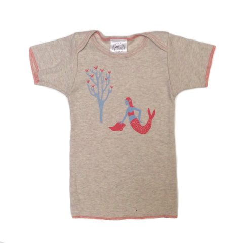 Mermaid Pink Heather Lap Tee