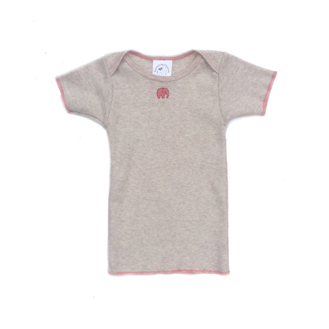 Omage Rose Oatmeal Short Sleeve Lap T