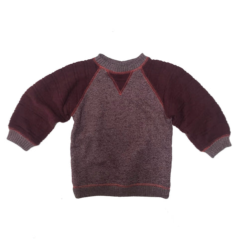 Burgundy Mixed Up Sweatshirt