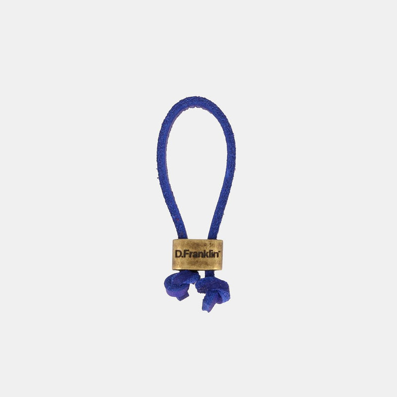 Keychain Magnum Leather Dark Blue/Gold