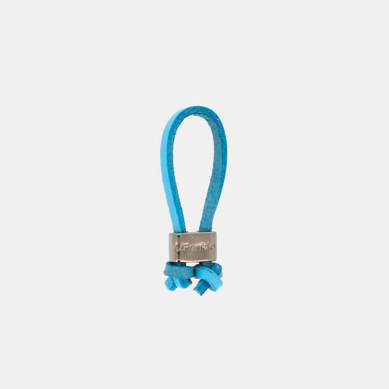 Keychain Jeroboam Leather Sky Blue/Metal