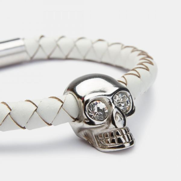 Skull Cotton Silver Diamond
