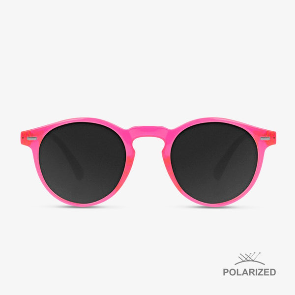 Ultra Light Pink Day-Glo / Black Polarized
