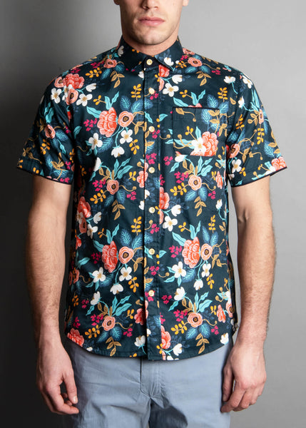 NAVY WORLD FLORAL