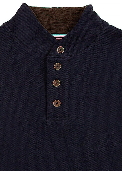 WW3 PLACKET PULLOVER NAVY