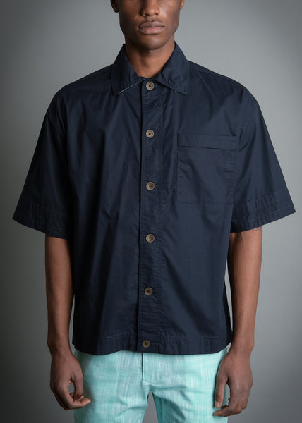 WIDE PRISAO FIT NAVY SHIRT