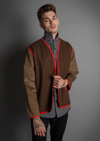 VINTAGE THROW JACKET: BURNT ORANGE