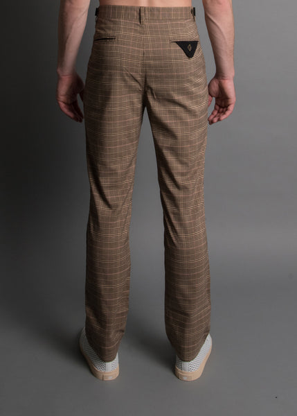 PA PLAID PLEATED TROUSER