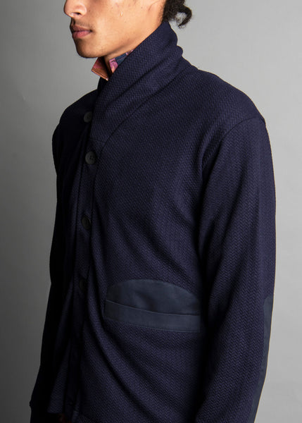 HEX FAVO CARDIGAN NAVY