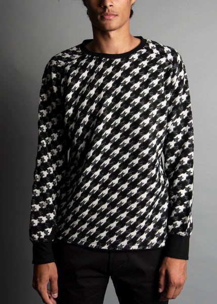 EXPLODED HOUNDSTOOTH BLACK