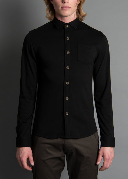 KNIT SHIRT KILLER BLACK