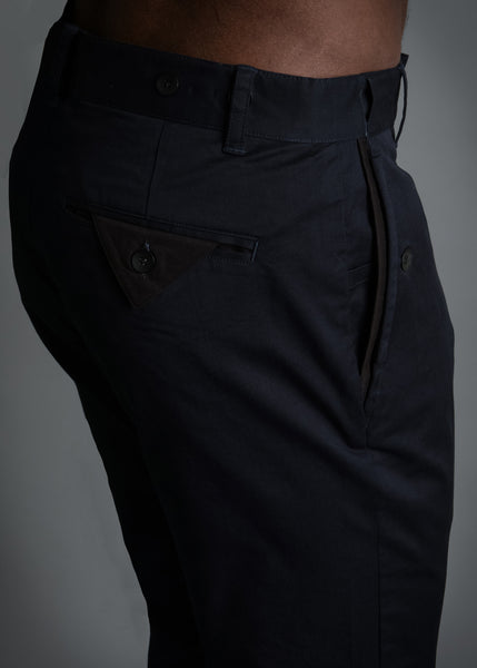 RUN & GUN FIT: NAVY SOFT TWILL PANT