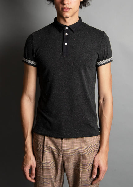 DK. CHARCOAL DONEGAL POLO