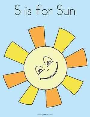 S is for Sun Safety Preschool & Kindergarten Activity