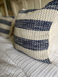 Navy + ivory pillow