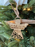 Custom remembrance angel Ornament