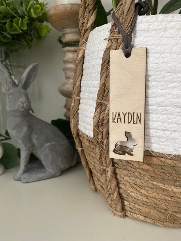 Vertical Easter basket name tag
