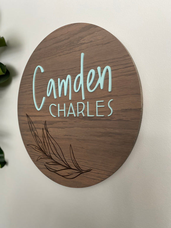 Custom listing - 3D + engraved OAK sign