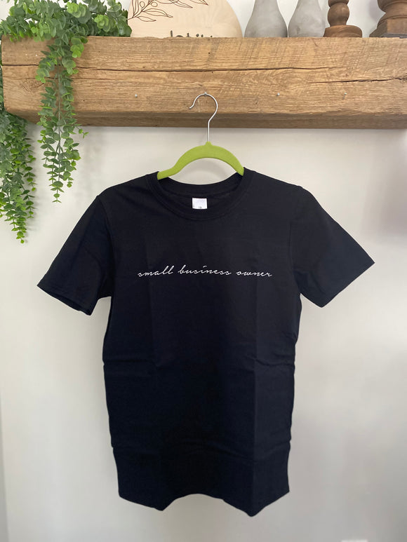 Small business owner tee, black