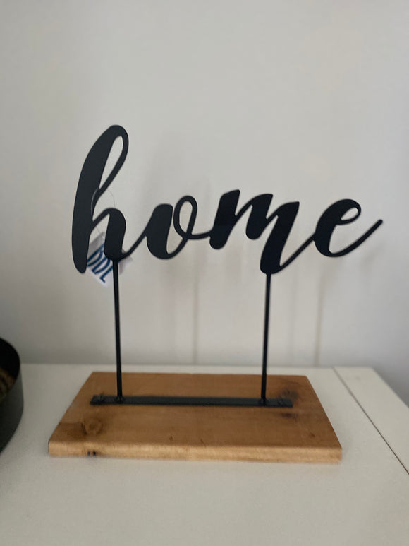 Metal + wood home stand