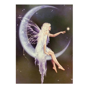 Diamond Painting - Partial Round - Angel in Moon