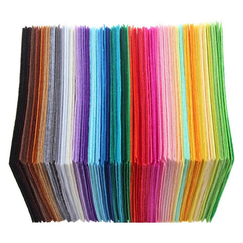 40pcs Non-Woven Polyester Cloth DIY Crafts Felt Fabric Sewing Accessories