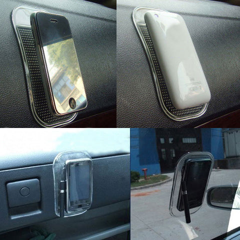 Car Dashboard Sticky Pad Anti Slip Cell Phone Key Holder Mat Transparent