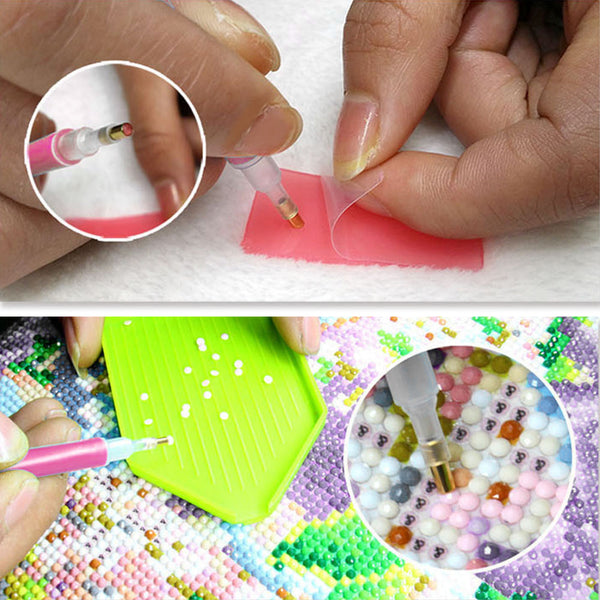 24pcs 5D DIY Diamond Painting Drill Pens Cross Stitch Embroidery Tools Set