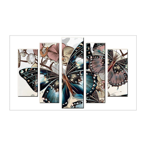 5pcs Diamond Painting - Full Round - Butterfly
