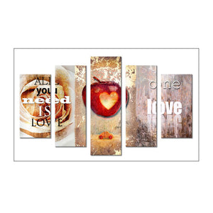 5pcs Diamond Painting - Full Round - One Love