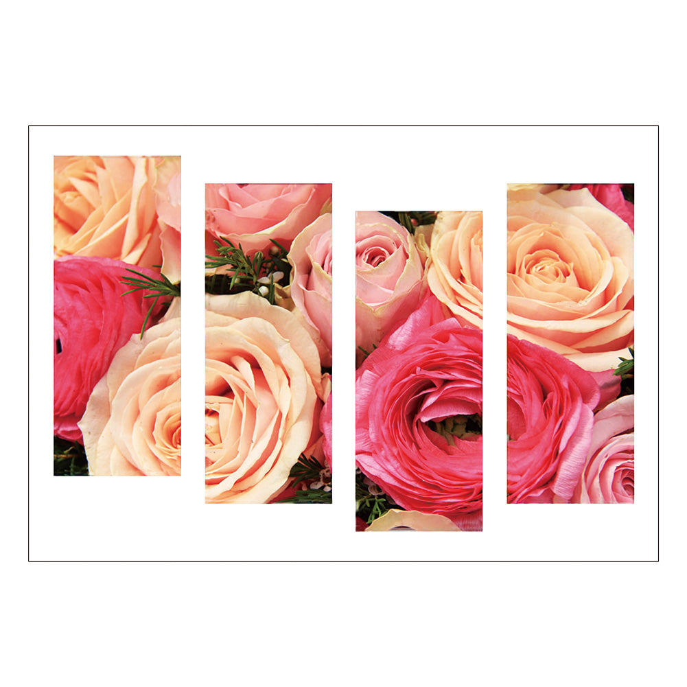 4pcs Diamond Painting - Full Round - Rose