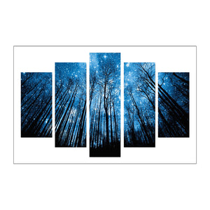 5pcs Diamond Painting - Full Round - Night Forest