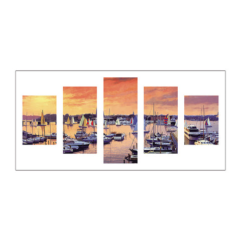 5pcs Diamond Painting - Full Round - Sailboat