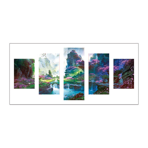 5pcs Diamond Painting - Full Round - Mountain River