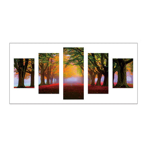 5pcs Diamond Painting - Full Round - Forest